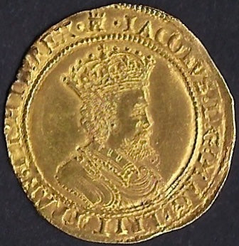 England 1603-1625 James I Ten Shillings (Double Crown) GVF