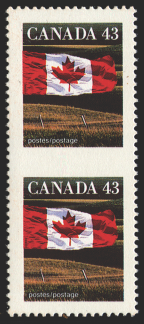 CANADA 1989-2000 43c 'Flag over prairie' error, SG1357cc