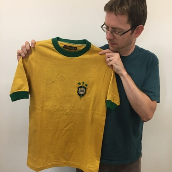 Pele game-worn 1970 Brazil jersey
