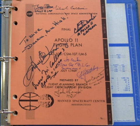 Apollo 11 signed flight plan