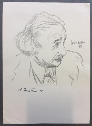 Albert Einstein signed portrait