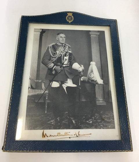 Lord Mounbatten signed photograph in frame