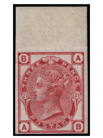 Great Britain 1881 3d rose plate 12 (Watermark Crown). SG158var