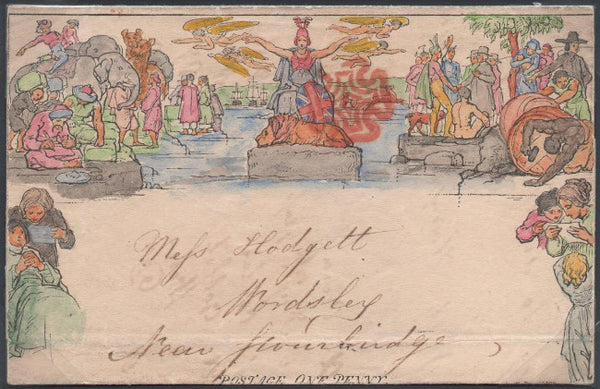 Great Britain 1840 1d Mulready lettersheet, SG ME1