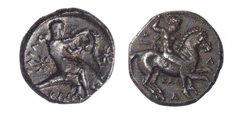 Ancient Greece Silver Stater Calabria-Tarentum