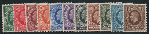 Great Britain 1934-36 King George V ½d-1s