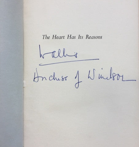 Wallis Simpson signed autobiography