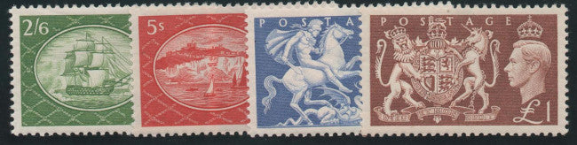 "Great Britain 1951 King George VI 2s6d-£1 ""Festival"" High values. SG509/12"