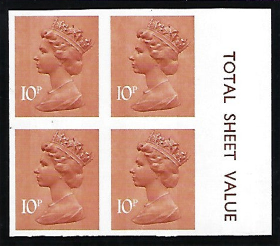 Great Britain Queen Elizabeth II 1976 10p orange-brown
