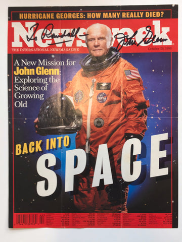 John Glenn signed Newsweek magazine cover