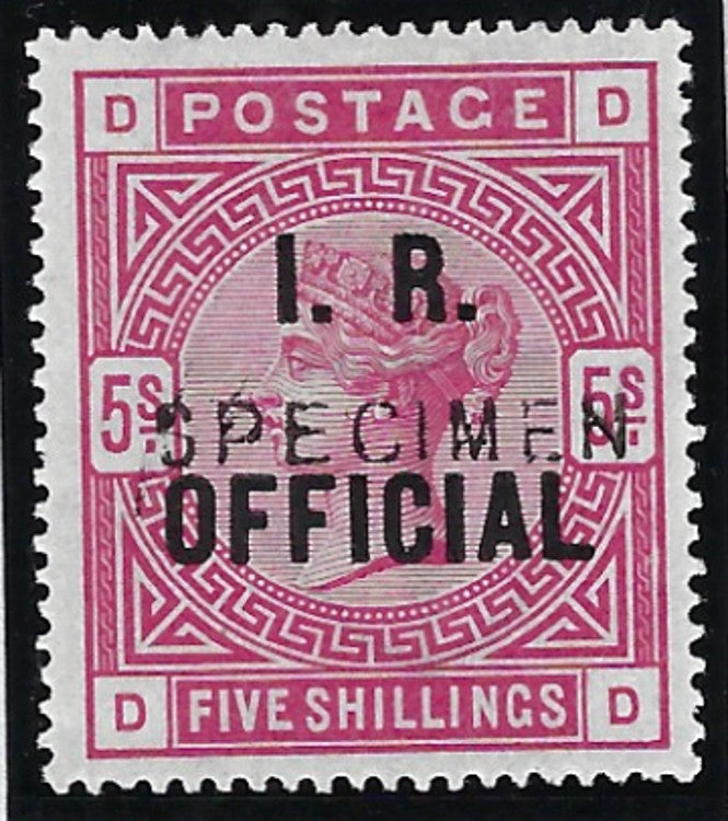 Great Britain 1890 5s rose (I.R. Official)