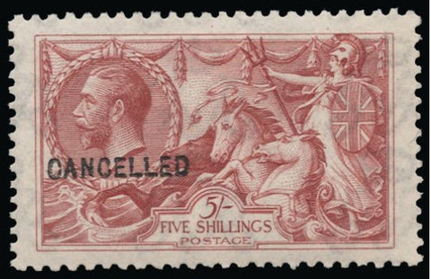 Great Britain 1920 5s rose red (Watermark Multiple Cypher). SG416var.