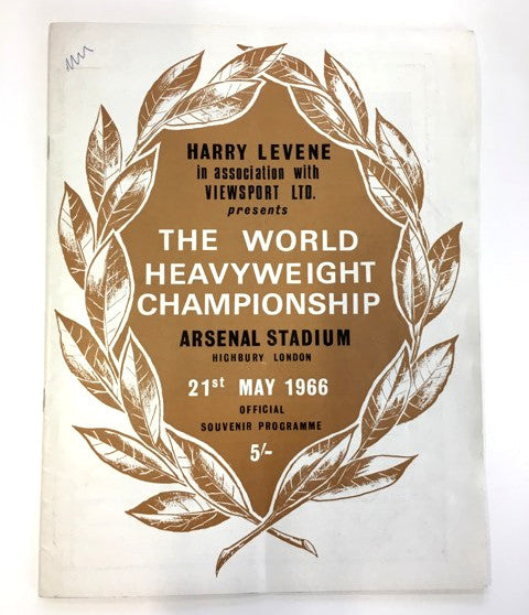 Sir Henry Cooper signed 1966 World Heavyweight Championship programme