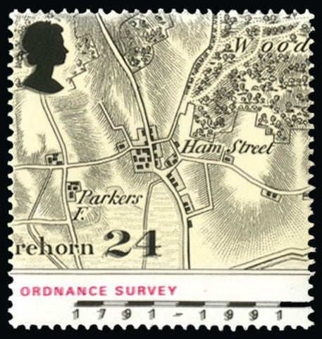 Great Britain 1991 Queen Elizabeth II 24p Bicentennary of Ordinance Survey. SG1578ea