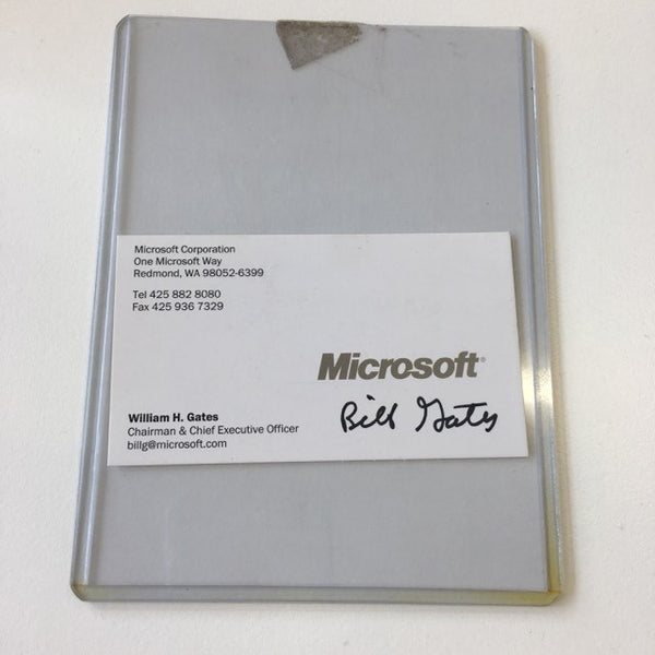 Bill Gates signed business card