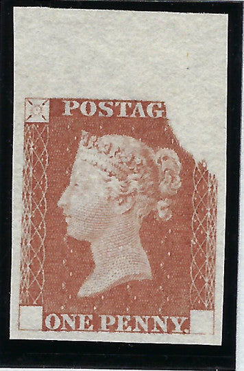 Great Britain 1840 1d Rainbow trial (State 3)