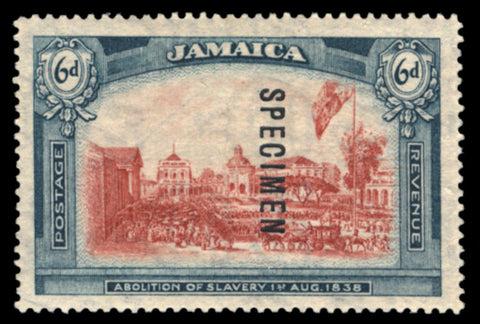 Jamaica 1921 6d red and blue-green 'Abolition of Slavery', SG91s
