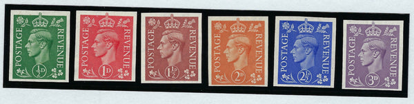 Great Britain 1941 King George VI 1941-42 ½d-3d definitives (pale colours), SG485/90var.