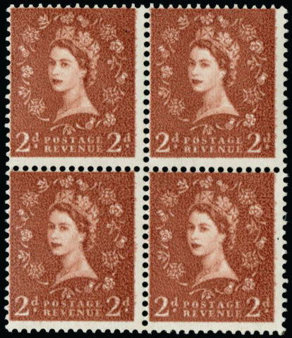Great Britain 1958 2d light red brown