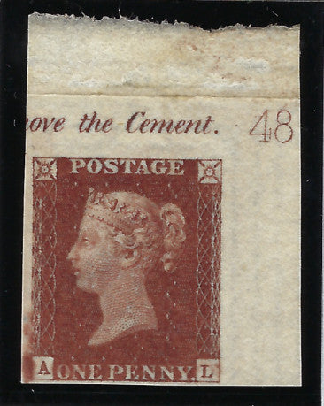 Great Britain 1841 1d red brown plate 48
