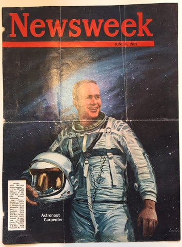 M Scott Carpenter signed Newsweek magazine cover