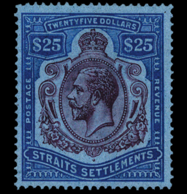 Malaya Straits 1921-33 $25 purple and blue/blue, SG240b