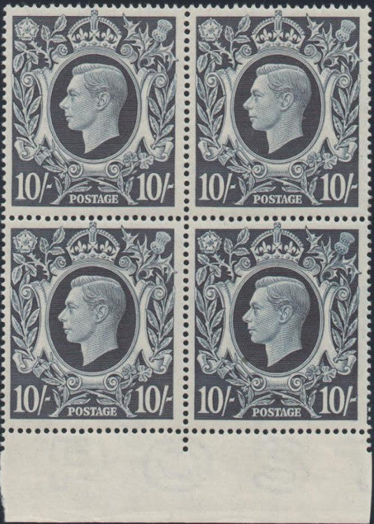 Great Britain 1939 10s dark blue, SG478.