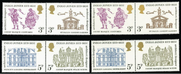 Great Britain 1973 Queen Elizabeth II, 3p & 5p Inigo Jones. SG935a.