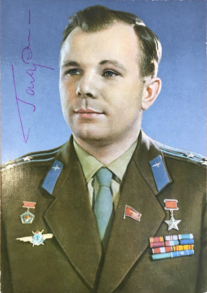 Yuri Gagarin signed photograph
