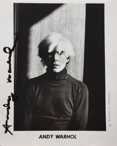 Andy Warhol signed photograph