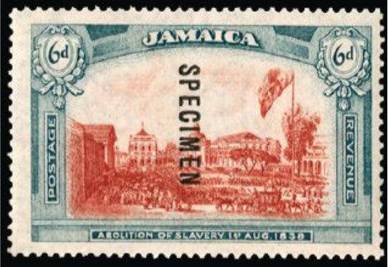 Jamaica 1921 6d red and blue-green 'Abolition of Slavery'