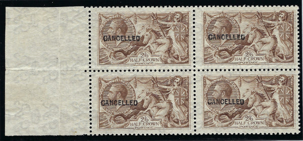 Great Britain 1920 King George V 2s6d olive brown (Experimental printing), SG413a var.