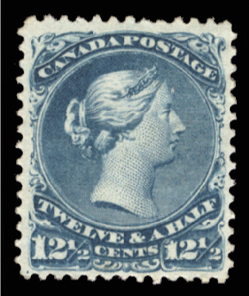 Canada 1868-90 12½c pale dull blue 'Large Queen', SG60c