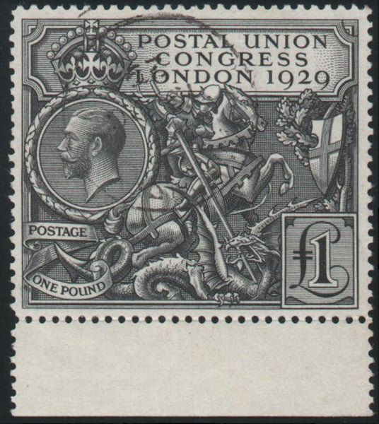 Great Britain 1929 King George V £1 Postal Union Congress (P.U.C.) black. SG438