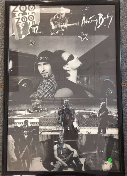 U2 signed Zoo TV tour poster (1992-1993)