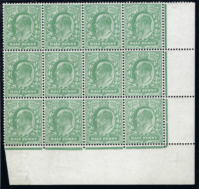Great Britain 1911 King Edward VII ½d dull green SG279.