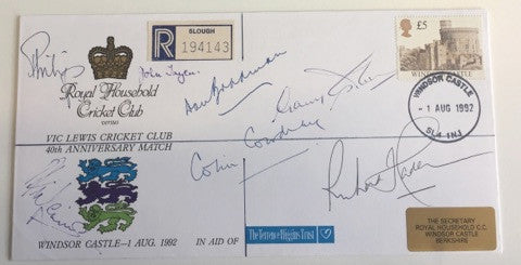 Vic Lewis Cricket Club signed cover