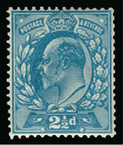 Great Britain 1901 2½d colour trial (perforations 14)