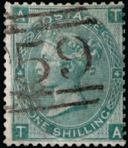 Great Britain 1865 1s green. SG101a
