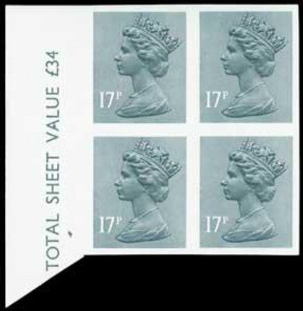 Great Britain Queen Elizabeth II 1983 17p grey-blue