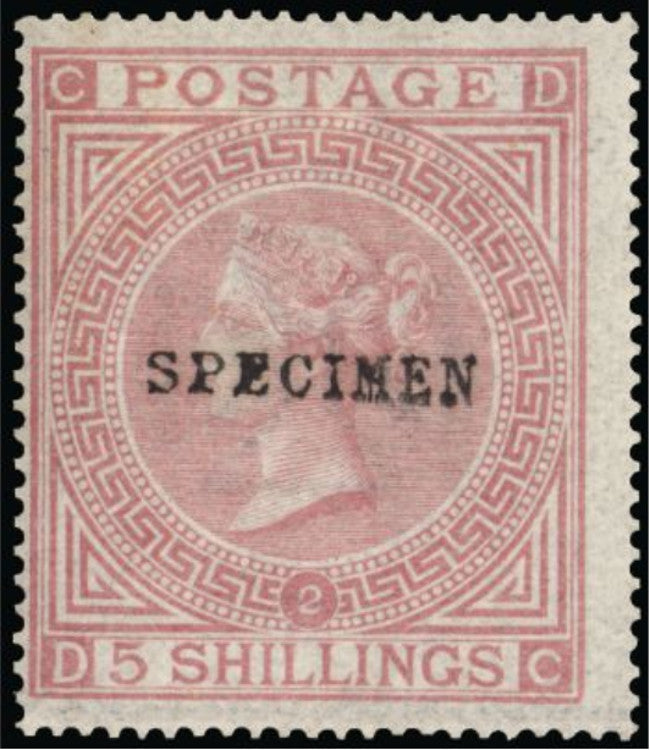 Great Britain 1874 5s pale rose plate 2. SG127s