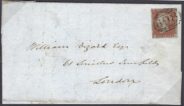 Great Britain 1841 1d Red brown plate 75 (Union Jack re-entry)