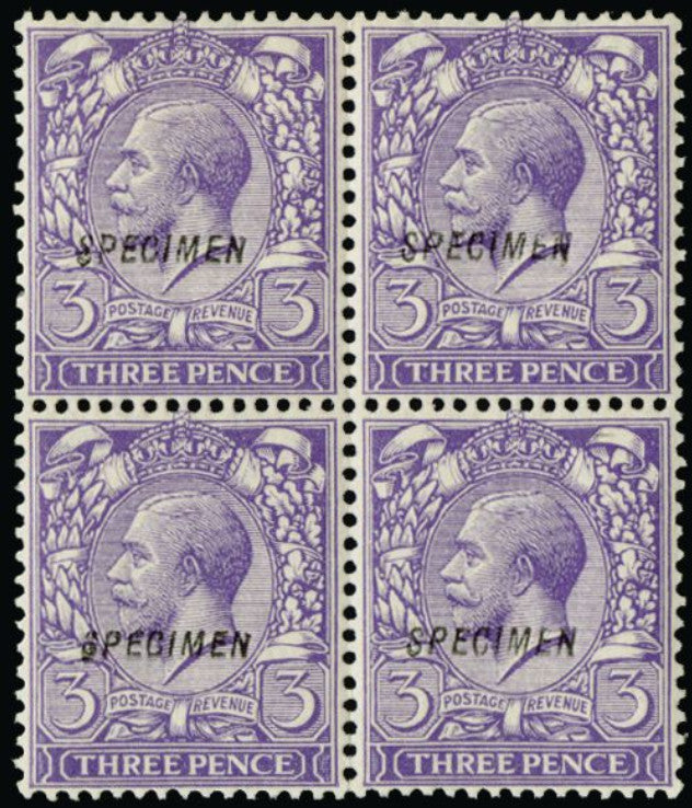 Great Britain 1912 3d violet. SG375var.
