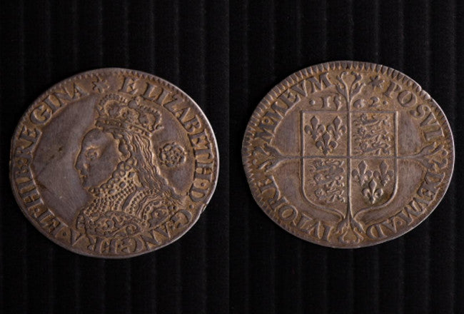 Elizabeth 1558-1603 Sixpence 1562 milled coinage