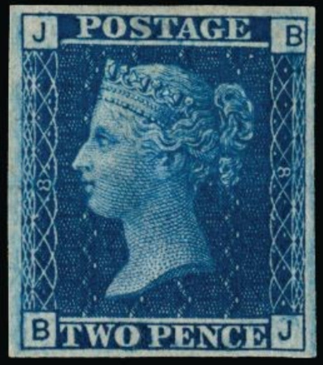 Great Britain 1858 2d blue plate 8. SG45var.