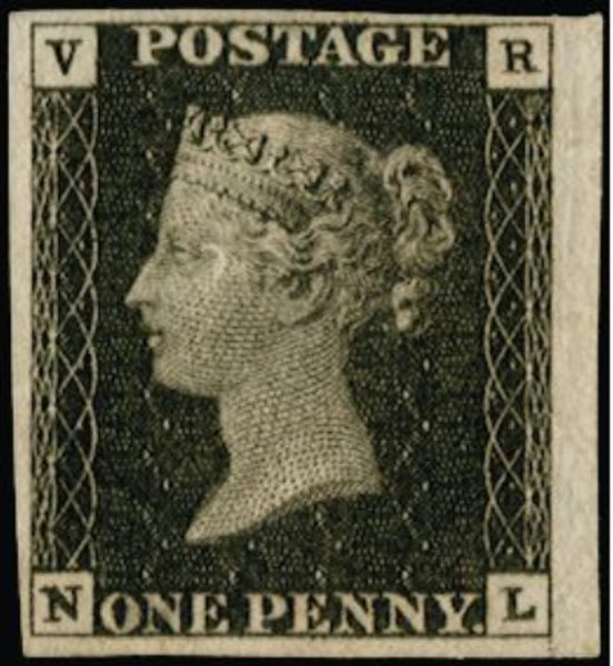 Great Britain 1840 1d black (VR official), SGV1var.