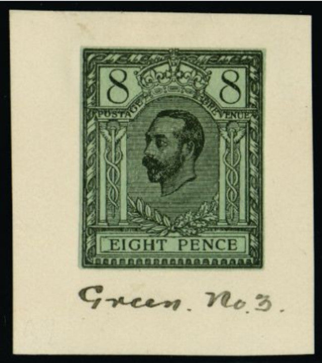 Great Britain 1910 8d Hentschel colour essay