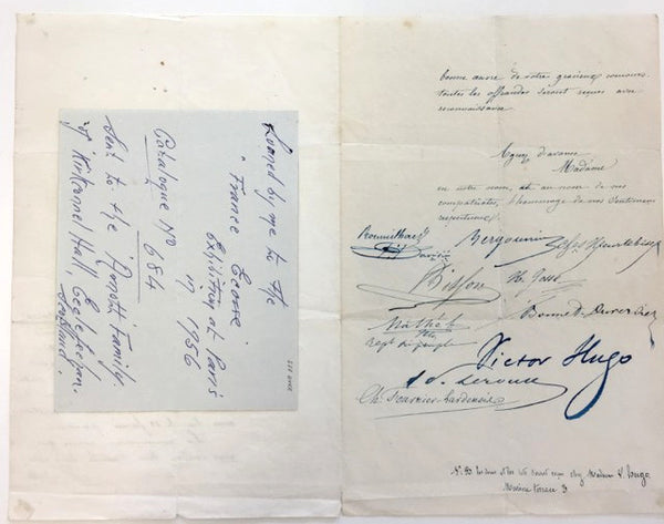 Victor Hugo signed document