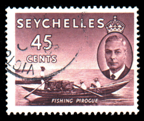 Seychelles 1952 45c purple-brown, SG166b