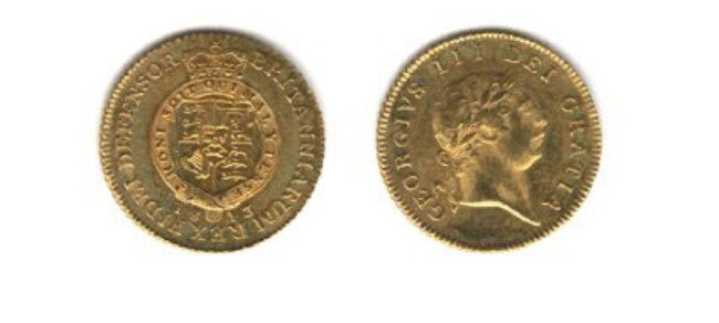 1813 George III, 7th head Half Guinea